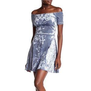 Love ... Ady Off-the-Shoulder Velvet Dress